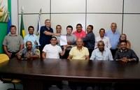 Vereadores e Prefeito se reúnem com o Deputado Federal Victorio Galli em Ipiranga do Norte